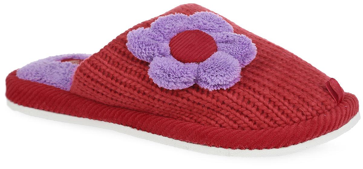 Тапки женские. 14WHC01214WHC012_кНевероятно удобные женские тапочки от Lamaliboo, выполненные из текстиля, помогут отдохнуть вашим ногам после трудового дня. Внешняя сторона изделия оформлена вязкой и дополнена цветочной аппликацией, а также ярлычками на мыске. Подкладка и стелька, изготовленные из текстиля, комфортны при ходьбе. Подошва с рельефным протектором обеспечивает сцепление с любыми поверхностями. Такие тапочки покорят вас с первого взгляда.