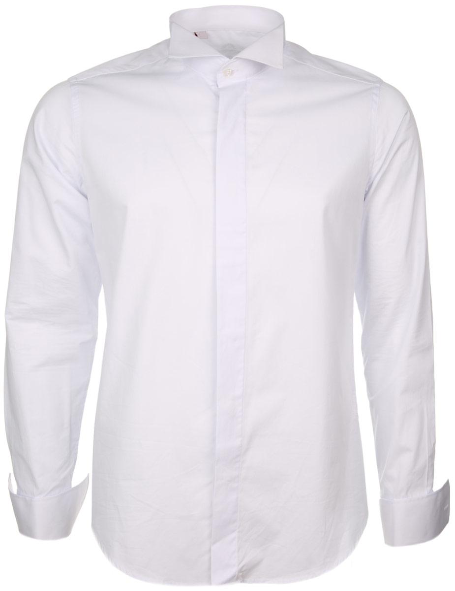Рубашка мужская. SW 89SW 89-01Стильная мужская рубашка KarFlorens, выполненная из хлопка с добавлением микрофибры, подчеркнет ваш уникальный стиль и поможет создать оригинальный образ. Рубашка с длинными рукавами и воротником под бабочку застегивается на пуговицы спереди. Рукава рубашки дополнены манжетами под запонки. Такая рубашка будет дарить вам комфорт в течение всего дня и послужит замечательным дополнением к вашему гардеробу.