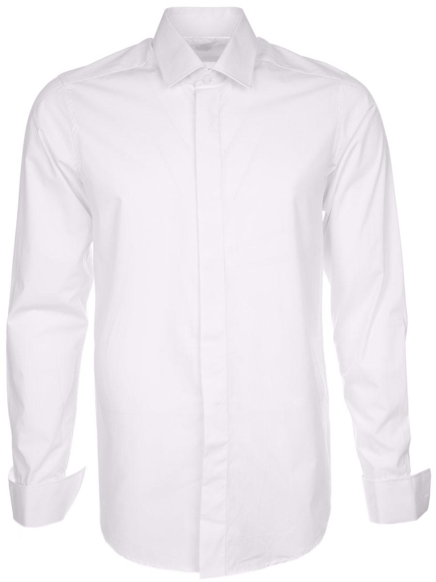 РубашкаSW 90-01Стильная мужская рубашка KarFlorens, выполненная из хлопка с добавлением микрофибры, подчеркнет ваш уникальный стиль и поможет создать оригинальный образ. Приталенная рубашка с длинными рукавами и отложным воротником застегивается на пуговицы спереди. Рукава рубашки дополнены манжетами под запонки. Такая рубашка будет дарить вам комфорт в течение всего дня и послужит замечательным дополнением к вашему гардеробу.