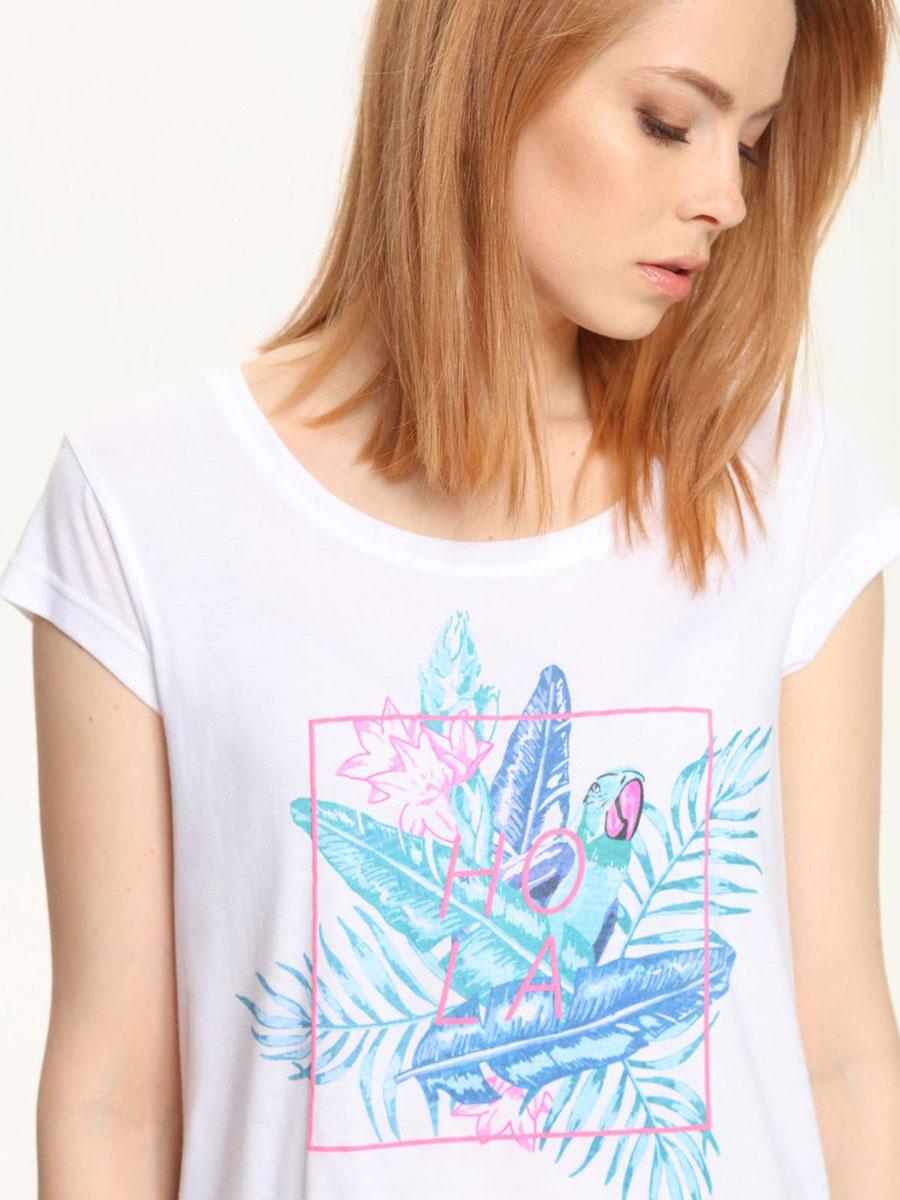 ФутболкаTPO1396BIМодная женская футболка Troll, выполненная из полиэстера и вискозы. Модель с короткими рукавами и круглым вырезом горловины. Спинка модели удлинена. Оформлено изделие оригинальным принтом.