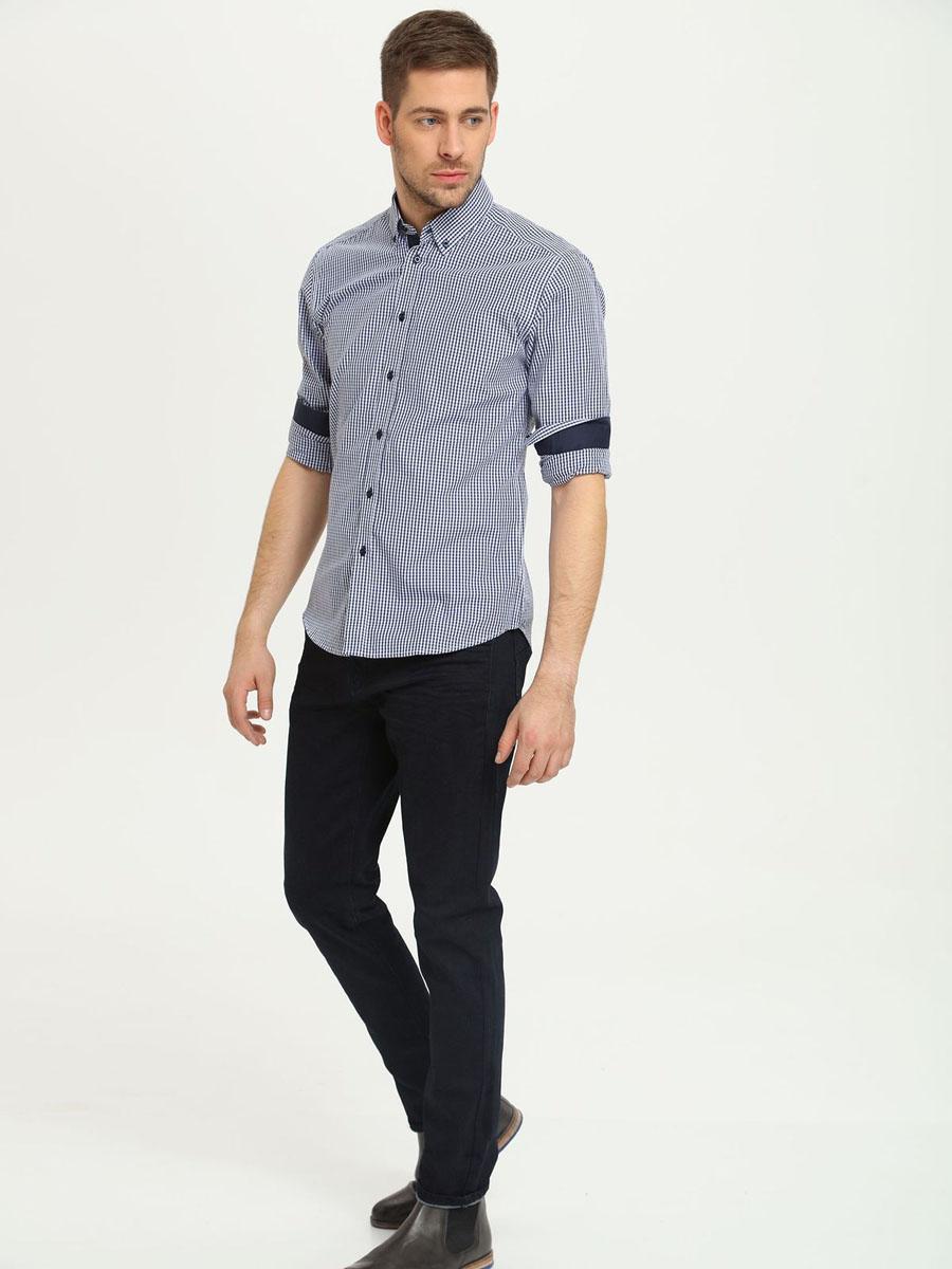 БрюкиSSP2142GRСтильные мужские брюки, выполненные из натурального хлопка, отлично дополнят ваш гардероб. Модель застегивается на пуговицу в поясе и ширинку на молнии, имеются шлевки для ремня. Спереди брюки дополнены двумя врезными карманами, а сзади двумя накладными карманами.