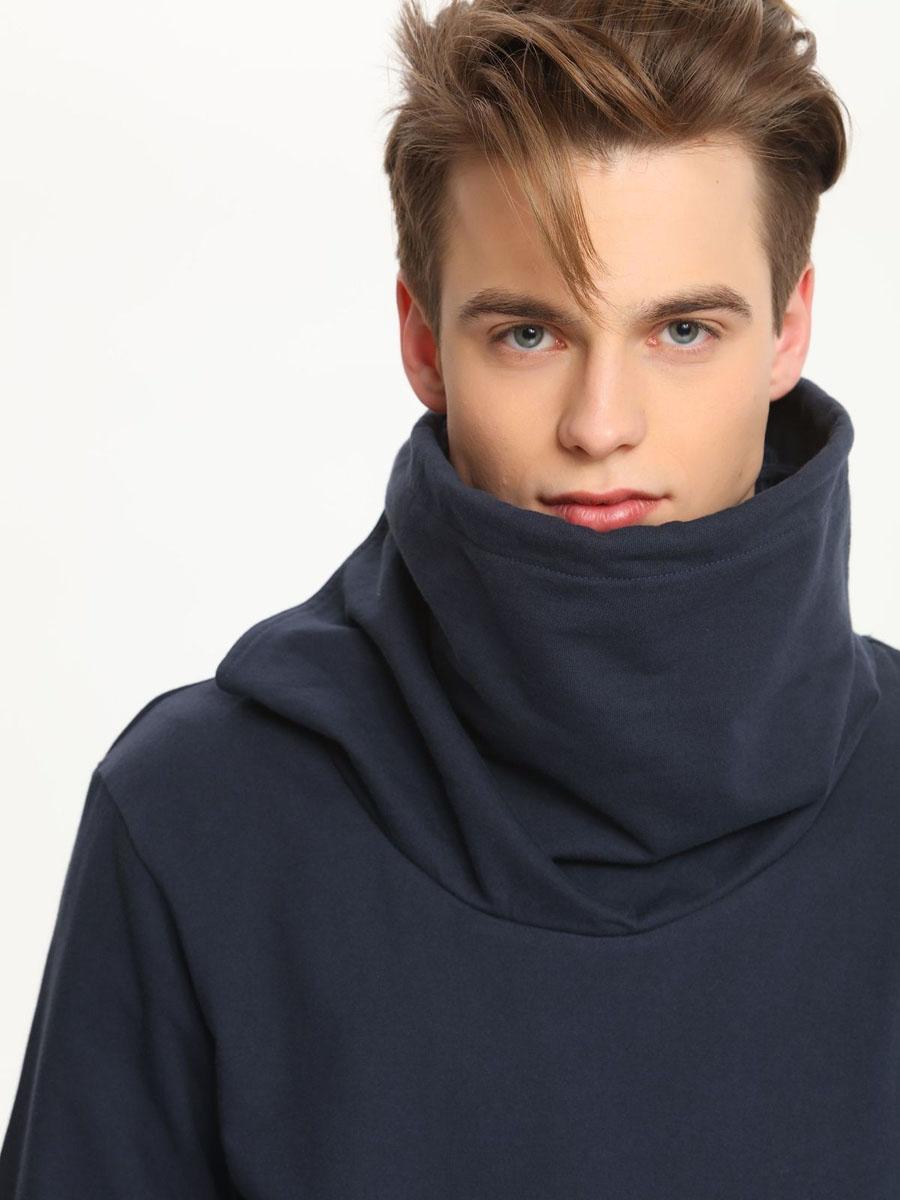 ТолстовкаSBL0443GR[E]Стильная мужская толстовка, выполненная из натурального хлопка, станет отличным дополнением вашего гардероба. Модель с воротником-хомутом и длинными рукавами спереди дополнена карманом-кенгуру.