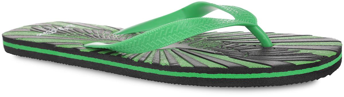 82612_гСтильные и очень легкие сланцы от Lamaliboo придутся вам по душе. Верх модели выполнен из ПВХ и оформлен на ремешках оригинальным тиснением. Ремешки с перемычкой гарантируют надежную фиксацию изделия на ноге. Верхняя часть подошвы декорирована стильным тиснением в виде черепа с крыльями и названием бренда. Рифление на верхней поверхности подошвы предотвращает выскальзывание ноги. Рельефное основание подошвы из ЭВА обеспечивает уверенное сцепление с любой поверхностью. Удобные сланцы прекрасно подойдут для похода в бассейн или на пляж.