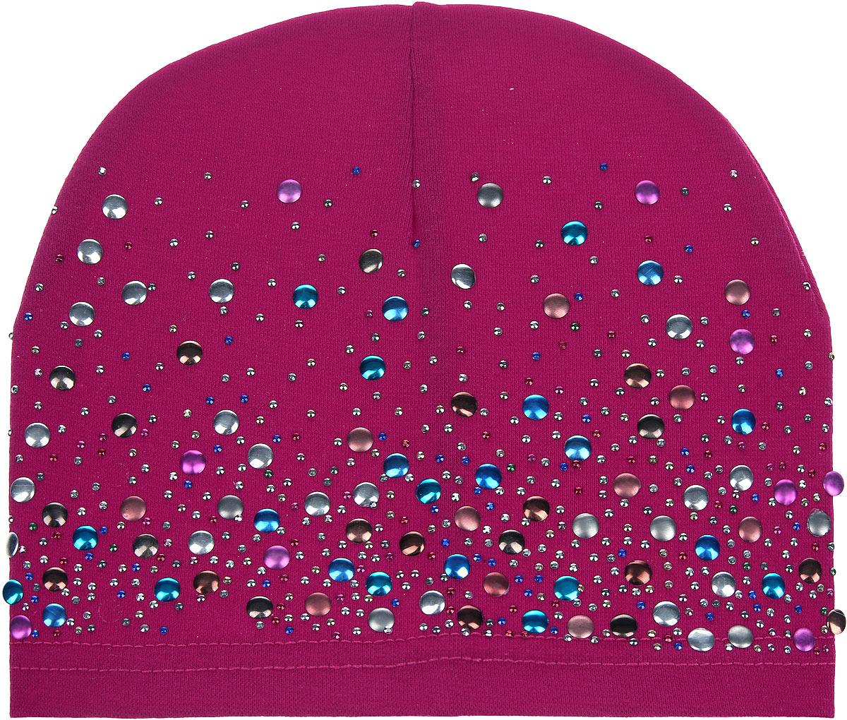 Шапка для девочки. H153-22H153-22_1Шапка для девочки InFante станет стильным дополнением к детскому гардеробу. Она выполнена из 100% хлопка, приятная на ощупь, идеально прилегает к голове. Изделие декорировано металлизированными стразами. Современный дизайн и расцветка делают эту шапку модным детским аксессуаром. В такой шапке ребенок будет чувствовать себя уютно, комфортно и всегда будет в центре внимания!