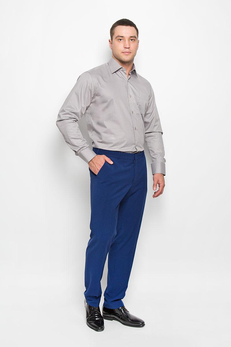 РубашкаSW 82-02Стильная мужская рубашка KarFlorens, выполненная из хлопка с добавлением микрофибры, подчеркнет ваш уникальный стиль и поможет создать оригинальный образ. Такой материал великолепно пропускает воздух, обеспечивая необходимую вентиляцию, а также обладает высокой гигроскопичностью. Рубашка с длинными рукавами и отложным воротником застегивается на пуговицы спереди. Рукава рубашки дополнены манжетами, которые также застегиваются на пуговицы. Однотонная модель дополнена накладным нагрудным карманом. Классическая рубашка - превосходный вариант для базового мужского гардероба и отличное решение на каждый день. Такая рубашка будет дарить вам комфорт в течение всего дня и послужит замечательным дополнением к вашему гардеробу.