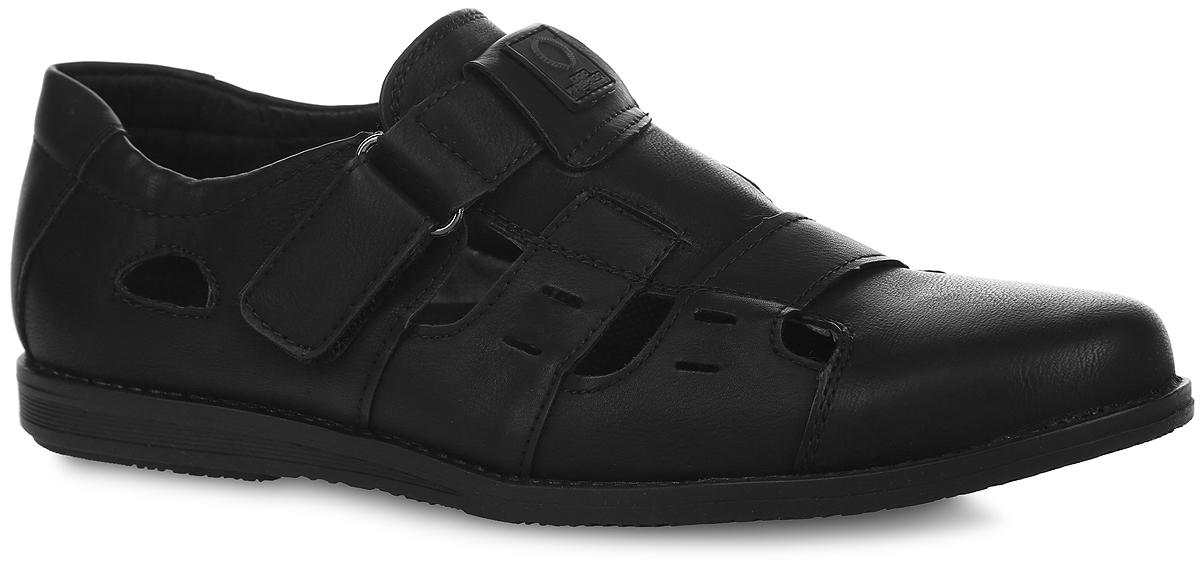 Туфли для мальчика. A522-2A522-2Стильные туфли от Adagio придутся по душе вашему моднику! Модель выполнена из искусственной кожи и дополнена резными отверстиями для лучшей воздухопроницаемости. Подъем оформлен оригинальной нашивкой из ПВХ. Ремешок на застежке-липучке, дополненный эластичной вставкой, надежно зафиксирует изделие на ножке ребенка. Подкладка, изготовленная из натуральной кожи, предотвратит натирание и гарантирует уют. Стелька из ЭВА материала с верхним покрытием из натуральной кожи дополнена супинатором, который обеспечивает правильное положение ноги ребенка при ходьбе, предотвращает плоскостопие. Подошва оснащена рифлением для лучшего сцепления с различными поверхностями. Удобные и модные туфли - незаменимая вещь в гардеробе каждого мальчика.