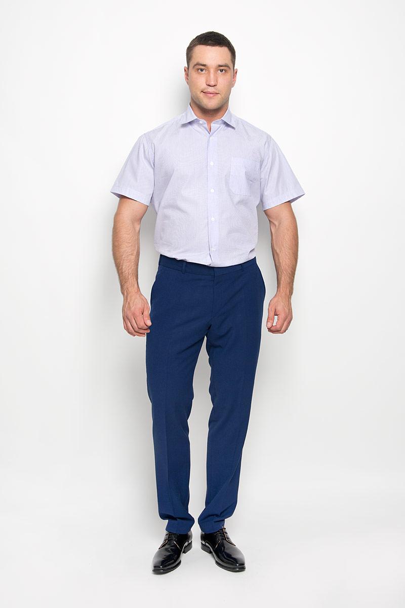 РубашкаSW 75-01Стильная мужская рубашка KarFlorens, выполненная из натурального хлопка, подчеркнет ваш уникальный стиль и поможет создать оригинальный образ. Такой материал великолепно пропускает воздух, обеспечивая необходимую вентиляцию, а также обладает высокой гигроскопичностью. Рубашка с короткими рукавами и отложным воротником застегивается на пуговицы спереди. Модель оформлена актуальным узором в узкую полоску и дополнена накладным нагрудным карманом. Классическая рубашка - превосходный вариант для базового мужского гардероба и отличное решение на каждый день. Такая рубашка будет дарить вам комфорт в течение всего дня и послужит замечательным дополнением к вашему гардеробу.