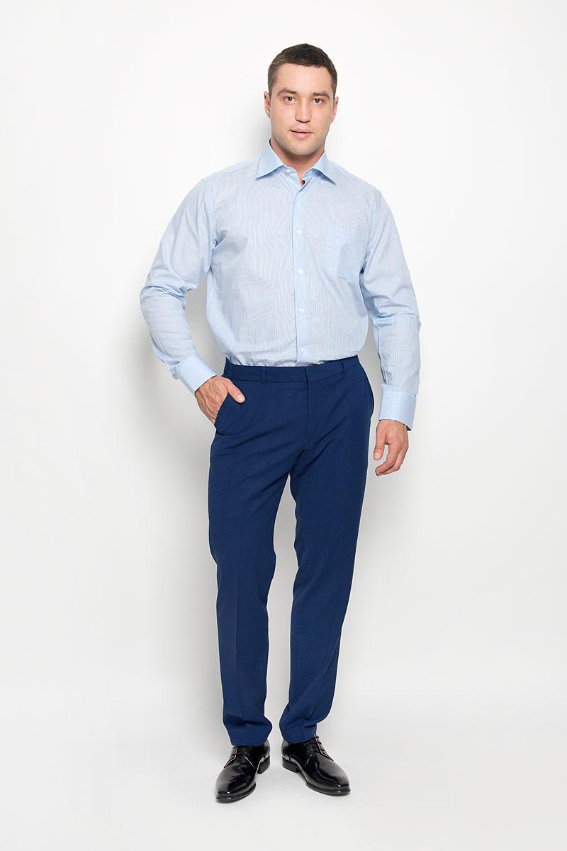 SW 88-03Стильная мужская рубашка KarFlorens, выполненная из натурального хлопка, подчеркнет ваш уникальный стиль и поможет создать оригинальный образ. Такой материал великолепно пропускает воздух, обеспечивая необходимую вентиляцию, а также обладает высокой гигроскопичностью. Рубашка с длинными рукавами и отложным воротником застегивается на пуговицы спереди. Рукава рубашки дополнены манжетами, которые также застегиваются на пуговицы. Модель оформлена актуальным узором в узкую полоску и дополнена накладным нагрудным карманом. Классическая рубашка - превосходный вариант для базового мужского гардероба и отличное решение на каждый день. Такая рубашка будет дарить вам комфорт в течение всего дня и послужит замечательным дополнением к вашему гардеробу.