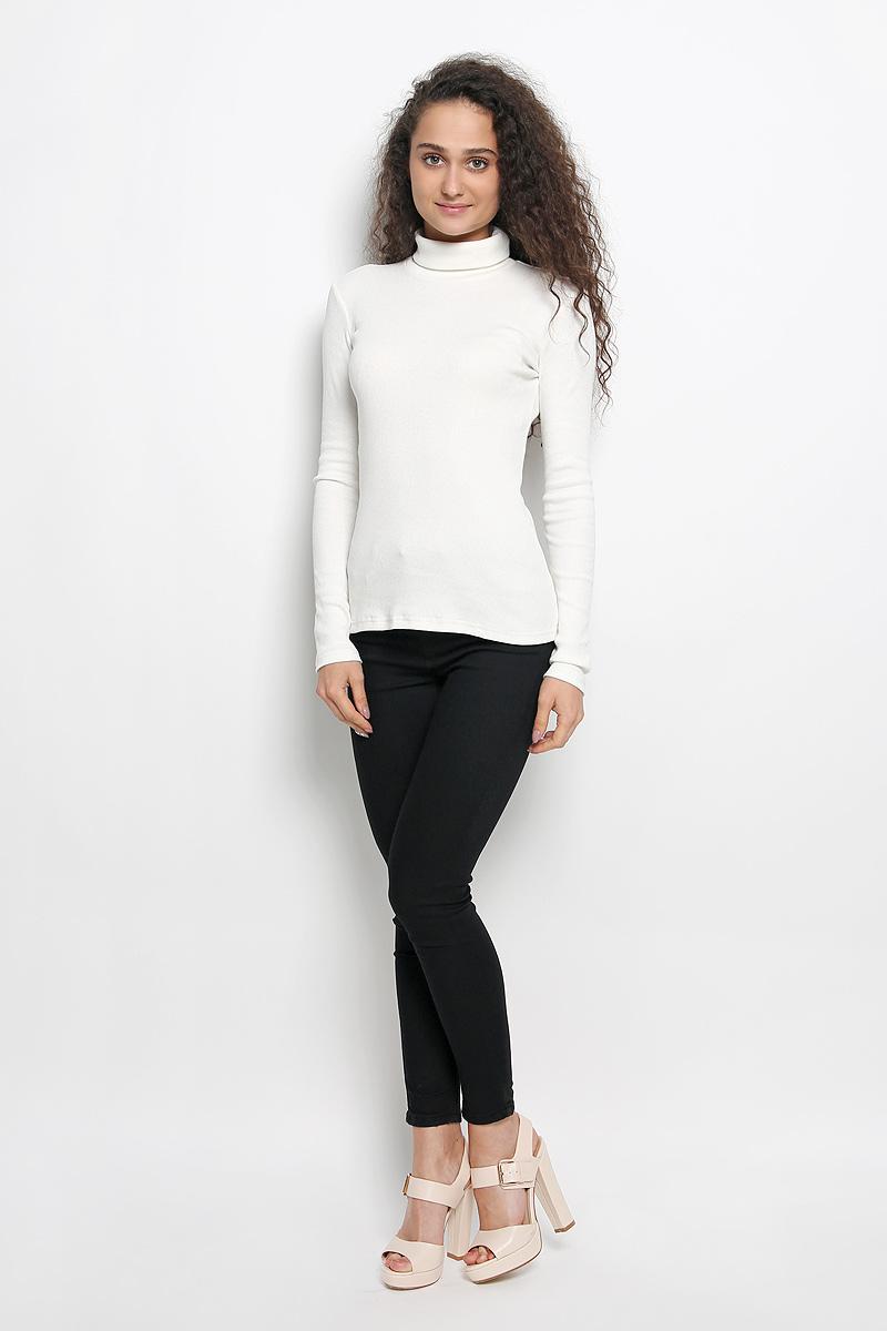 Водолазка женская. R041516R041516Женская водолазка Rocawear выполнена из мягкого эластичного хлопка. Материал изделия тактильно приятный, не сковывает движения и хорошо вентилируется. Водолазка с воротником-гольф и длинными рукавами имеет слегка приталенный силуэт. Модель идеально подойдет для повседневной носки и обеспечит комфорт и удобство в течение всего дня.