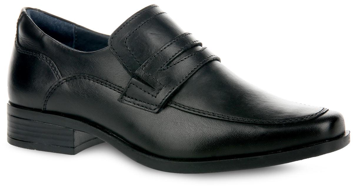 Туфли для мальчика. 6-6030811016-603081101Стильные туфли от Elegami придутся по душе вашему юному моднику! Модель выполнена из натуральной кожи и оформлена в области подъема декоративным ремешком с резным узором. Подкладка и стелька, изготовленные из натуральной кожи, предотвратят натирание и гарантируют уют. Стелька дополнена супинатором, который обеспечивает правильное положение ноги ребенка при ходьбе, предотвращает плоскостопие. Подошва оснащена рифлением для лучшего сцепления с различными поверхностями. Удобные классические туфли - незаменимая вещь в гардеробе каждого мальчика.