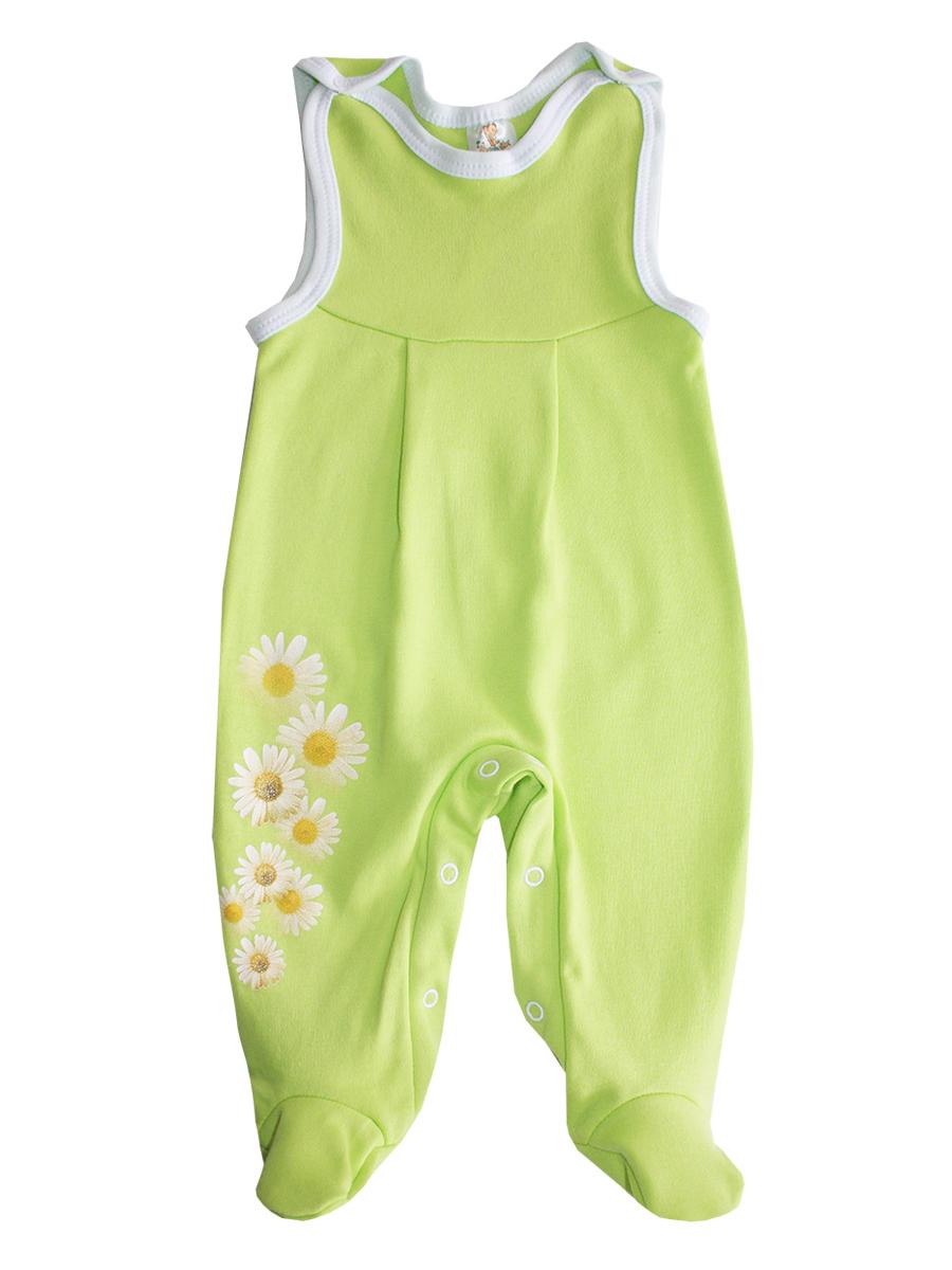 Ползунки5368Ползунки с грудкой для девочки КотМарКот - очень удобный и практичный вид одежды для вашей малышки. Ползунки выполнены из натурального хлопка, благодаря чему они необычайно мягкие и приятные на ощупь. Ползунки с закрытыми ножками имеют застежки-кнопки на плечах и на ластовице, которые помогают легко переодеть ребенка или сменить подгузник. Изделие оформлено цветочным принтом.