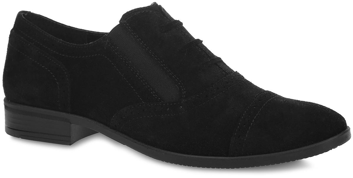 Туфли для мальчика. 5-5181315025-518131502Стильные туфли от Elegami придутся по душе вашему юному моднику! Модель выполнена из велюра и оформлена по верху оригинальной перфорацией. Подъем дополнен декоративной шнуровкой и эластичными вставками для лучшей фиксации изделия на ноге. Подкладка и стелька, изготовленные из натуральной кожи, предотвратят натирание и гарантируют уют. Стелька дополнена супинатором, который обеспечивает правильное положение ноги ребенка при ходьбе, предотвращает плоскостопие. Подошва оснащена рифлением для лучшего сцепления с различными поверхностями. Удобные классические туфли - незаменимая вещь в гардеробе каждого мальчика.