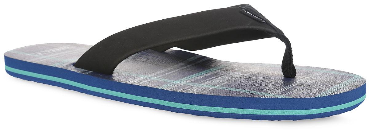 Сланцы мужские Ftm Imprint Check & Stripe. 604524-5910604524-5910Стильные сланцы от ONeill придутся вам по душе. Верх модели выполнен из ЭВА материала, текстиля и оформлен текстильной вставкой с названием бренда. Ремешки с перемычкой гарантируют надежную фиксацию изделия на ноге. Верхняя часть подошвы декорирована принтом в клетку и названием бренда. Рифление на верхней поверхности подошвы предотвращает выскальзывание ноги. Рельефное основание подошвы обеспечивает уверенное сцепление с любой поверхностью. Удобные сланцы прекрасно подойдут для похода в бассейн или на пляж.