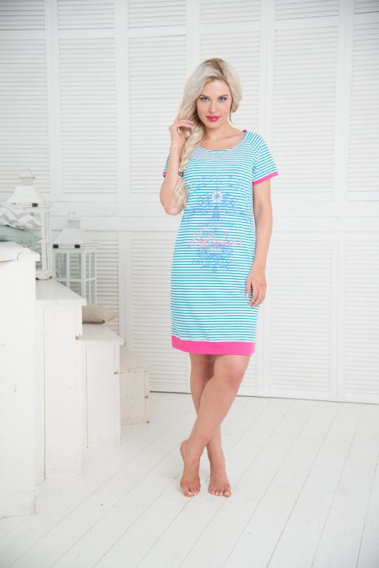 Платье. SS16-PL-04SS16-PL-04Одежда Торговой марки Santi-уже давно зарекомендовала себя на российском рынке, как красивая и комфортная одежда для дома и отдыха, разработанная специально для женщин всех возрастных категорий.Коллекция сочетает в себе все незабываемые краски лета!Сочные оттенки фуксии и яркого голубого неба под открытыми лучами солнца, будут радовать Вас в ожидании отпускного сезона. Одежда из коллекции «Море» подойдет не только для дома, но для прогулки по морскому побережью!