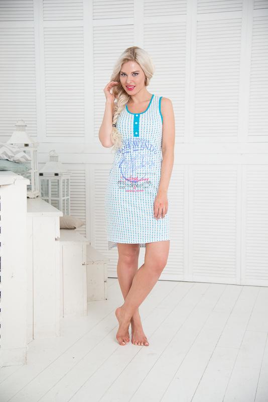 Сорочка женская. SS16-S-05SS16-S-05Одежда Торговой марки Santi-уже давно зарекомендовала себя на российском рынке, как красивая и комфортная одежда для дома и отдыха, разработанная специально для женщин всех возрастных категорий.Коллекция сочетает в себе все незабываемые краски лета!Сочные оттенки фуксии и яркого голубого неба под открытыми лучами солнца, будут радовать Вас в ожидании отпускного сезона. Одежда из коллекции «Море» подойдет не только для дома, но для прогулки по морскому побережью!