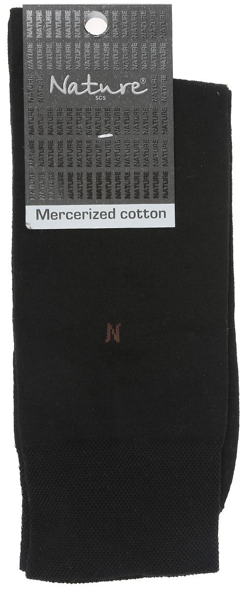 Носки мужские. 416416Удобные мужские носки Nature, изготовленные из высококачественного комбинированного материала, идеально подойдут для повседневной носки. Благодаря содержанию хлопка в составе, кожа сможет дышать, а эластан позволяет носочкам легко тянуться, что делает их комфортными в носке. Эластичная резинка плотно облегает ногу, не сдавливая ее, обеспечивая комфорт и удобство. Практичные и комфортные носки с укрепленным мыском и пяткой великолепно подойдут к вашей повседневной обуви.