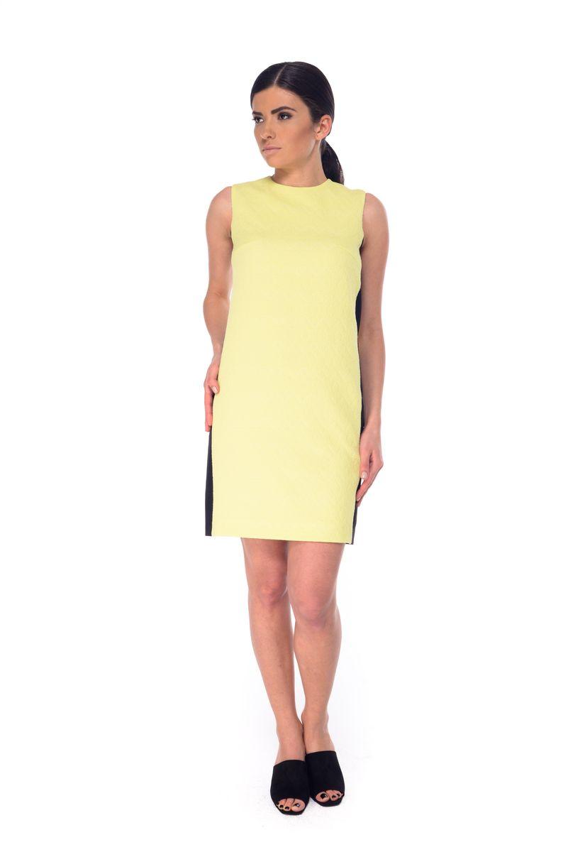 09051Платье Arefeva выполнено из полиэстера с добавлением эластана и дополнено тонкой подкладкой. Модель с круглом вырезом горловины застегивается на потайную застежку-молнию расположенную в среднем шве спинки. Платье-миди оформлено оригинальным узором и вставками контрастного цвета.