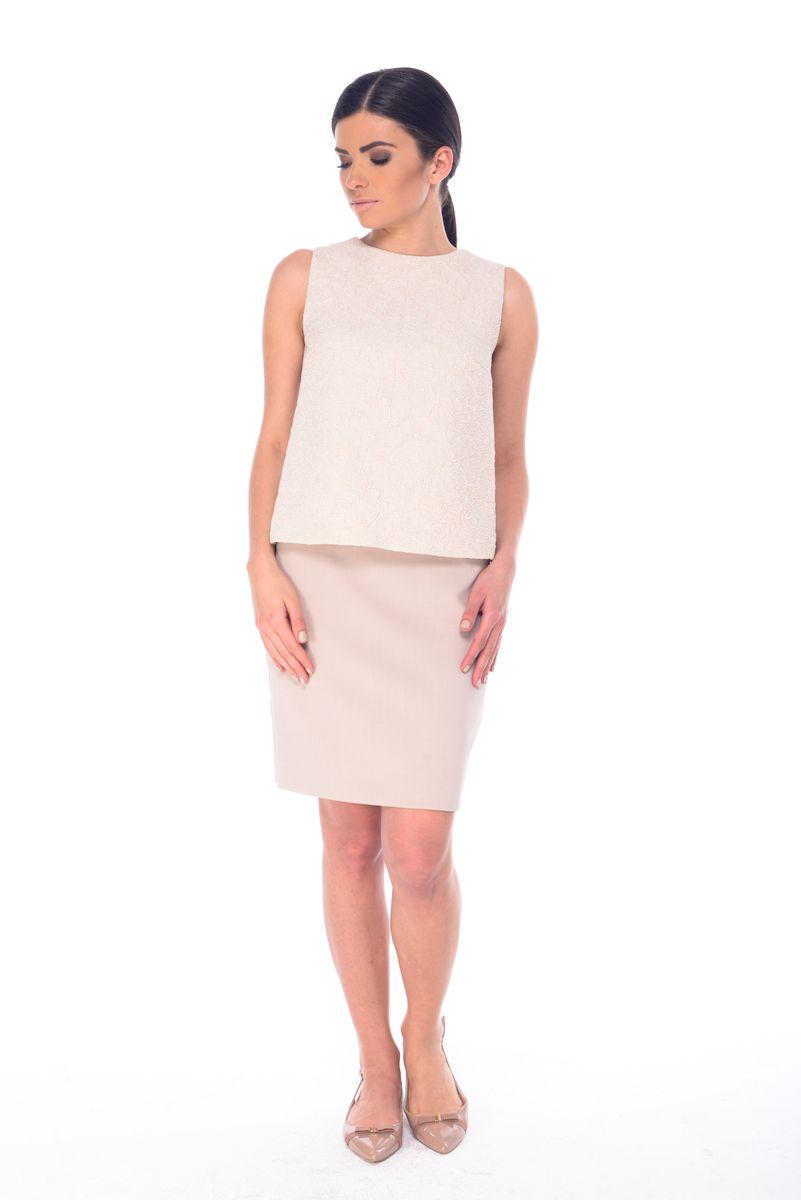 ЮбкаL 3055Стильная юбка Arefeva, выполненная из полиэстера с добавлением спандекса, обеспечит вам комфорт и удобство при носке. Юбка-миди застегивается сзади на скрытую застежку-молнию. Спереди расположены два втачных кармана.