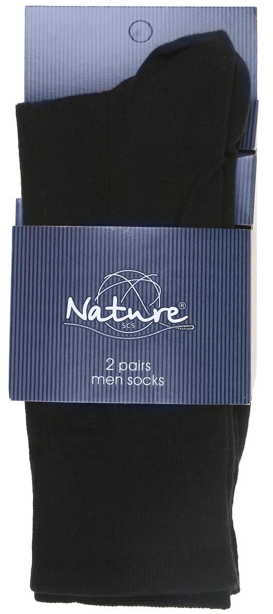 Носки1122Удобные мужские носки Nature, изготовленные из высококачественного комбинированного материала, идеально подойдут для повседневной носки. Благодаря содержанию мягкого хлопка в составе, кожа сможет дышать, полиамид обеспечивает износостойкость, а эластан позволяет носочкам легко тянуться, что делает их комфортными в носке. Эластичная резинка плотно облегает ногу, не сдавливая ее, обеспечивая комфорт и удобство. Практичные и комфортные носки с укрепленным мыском и пяткой великолепно подойдут к вашей повседневной обуви. В комплект входят 2 пары носков.