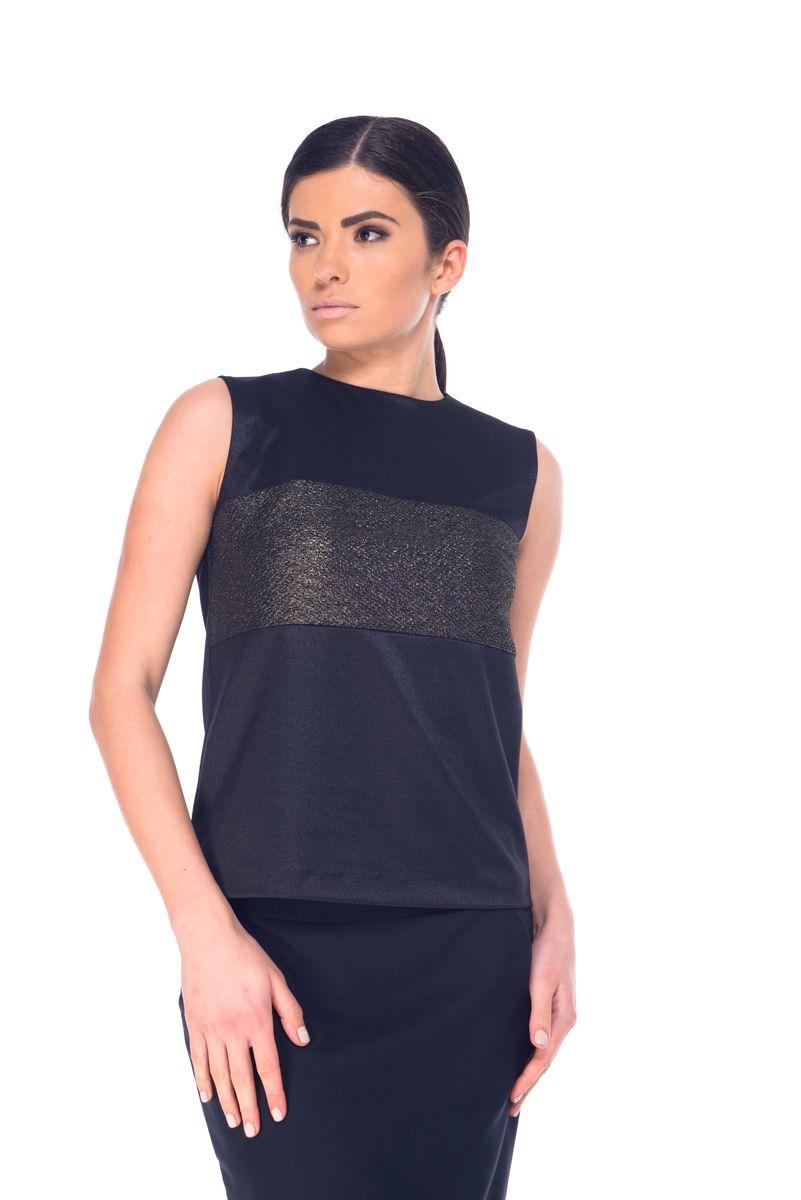 БлузкаL 7058Женская блузка Arefeva выполнена из полиэстера с добавлением спандекса. Модель с круглым вырезом горловины сзади застегивается на пуговичку расположенную на горловине. Блузка оформлена вставкой из гофрированного материала.