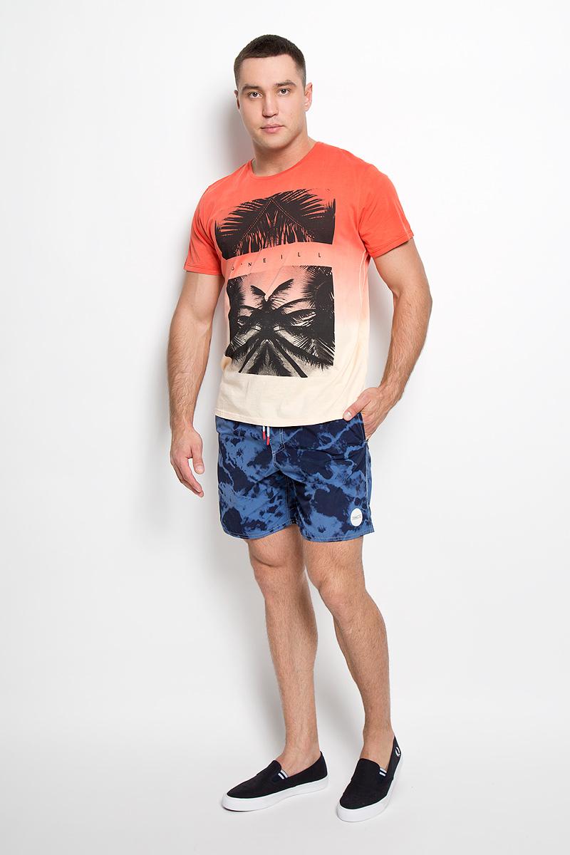 Футболка602325-3082Стильная мужская футболка ONeill, выполненная из высококачественного натурального хлопка, обладает высокой воздухопроницаемостью и гигроскопичностью, позволяет коже дышать. Такая футболка великолепно подойдет как для повседневной носки, так и для спортивных занятий. Модель с короткими рукавами и круглым вырезом горловины - идеальный вариант для создания модного современного образа. Футболка оформлена оригинальным принтом с изображением пальм и логотипом бренда. Такая модель подарит вам комфорт в течение всего дня и послужит замечательным дополнением к вашему гардеробу.