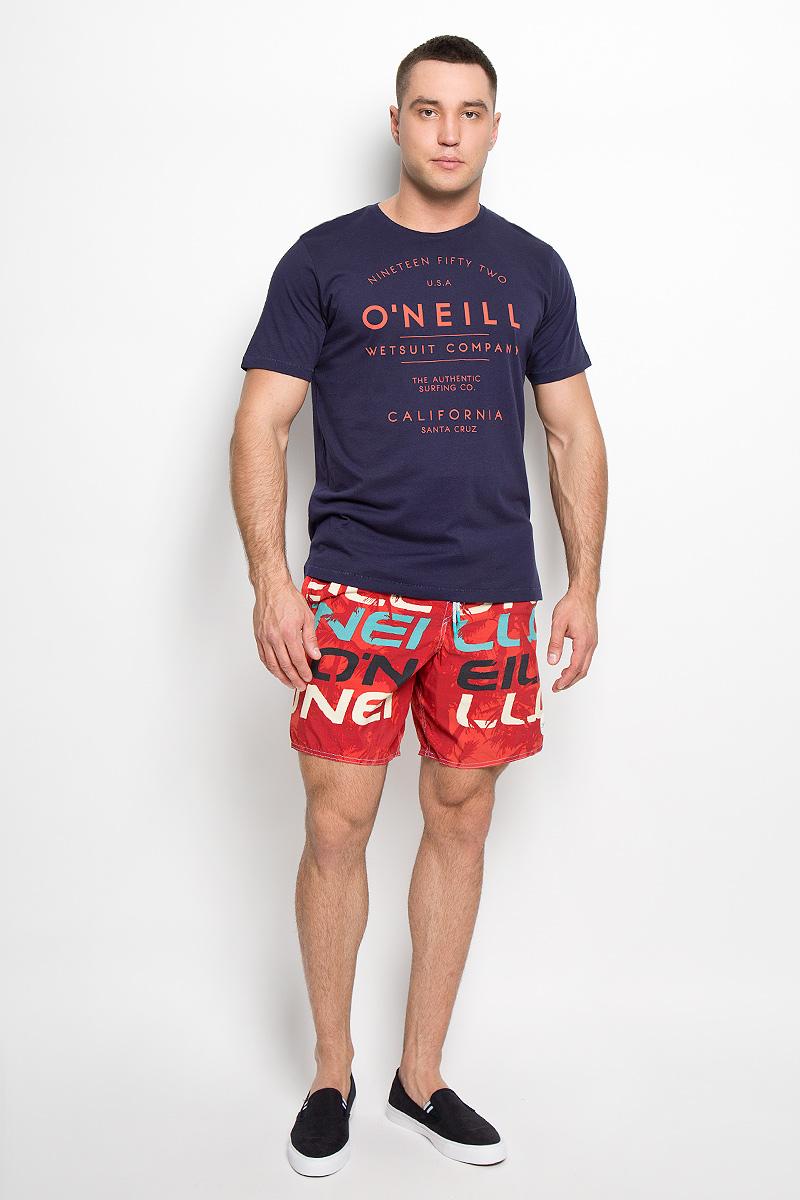 Футболка мужская. 602348602348-3082Стильная мужская футболка ONeill, выполненная из высококачественного хлопка, обладает высокой воздухопроницаемостью и гигроскопичностью, позволяет коже дышать. Такая футболка великолепно подойдет как для повседневной носки, так и для спортивных занятий. Модель с короткими рукавами и круглым вырезом горловины - идеальный вариант для создания модного современного образа. Футболка оформлена принтом с логотипом ONeill и надписями на английском языке. Такая модель подарит вам комфорт в течение всего дня и послужит замечательным дополнением к вашему гардеробу.