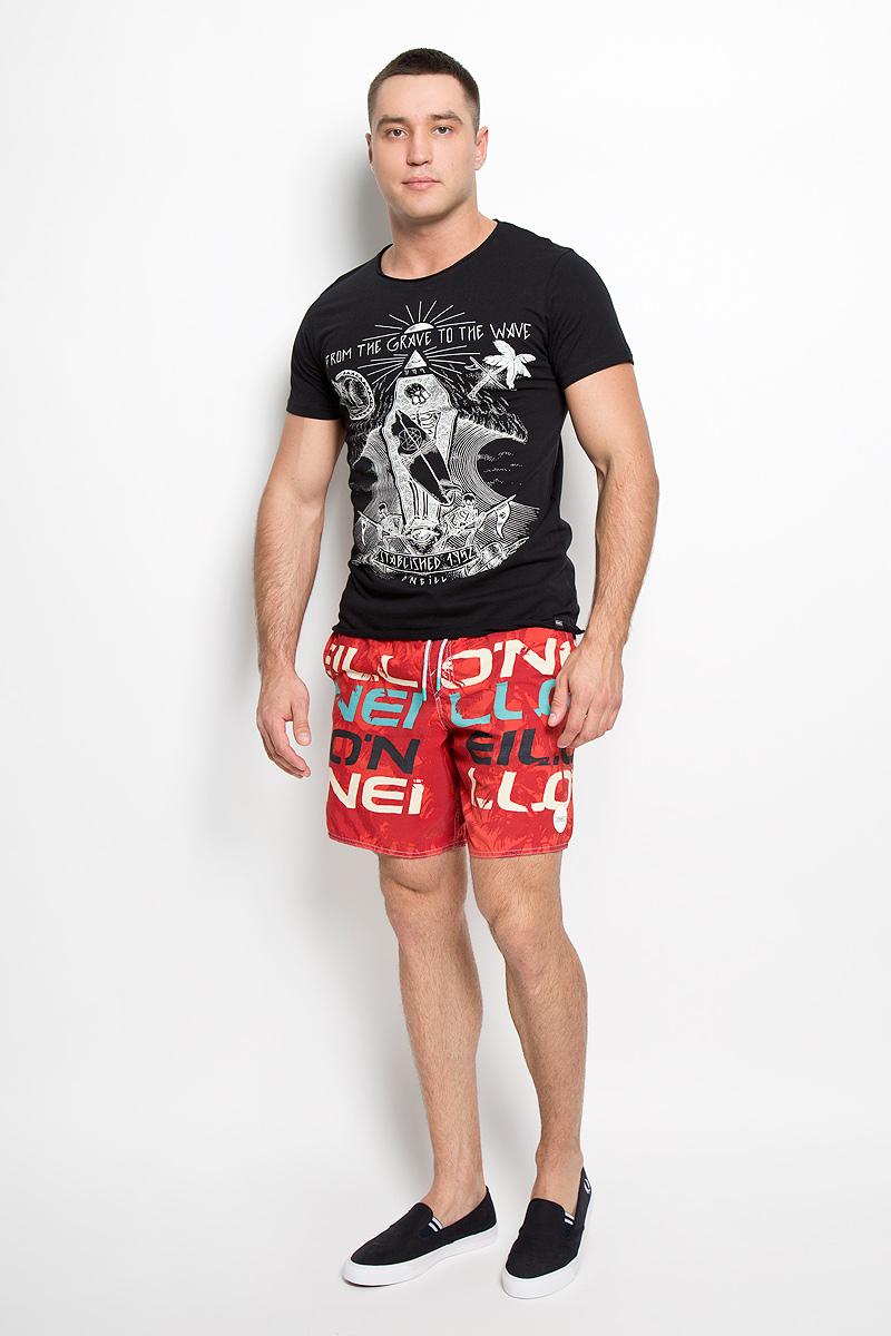 Футболка602340-9010Стильная мужская футболка ONeill, выполненная из высококачественного натурального хлопка, обладает высокой воздухопроницаемостью и гигроскопичностью, позволяет коже дышать. Такая футболка великолепно подойдет как для повседневной носки, так и для спортивных занятий. Модель с короткими рукавами и круглым вырезом горловины - идеальный вариант для создания модного современного образа. Футболка оформлена оригинальным художественным принтом. Такая модель подарит вам комфорт в течение всего дня и послужит замечательным дополнением к вашему гардеробу.