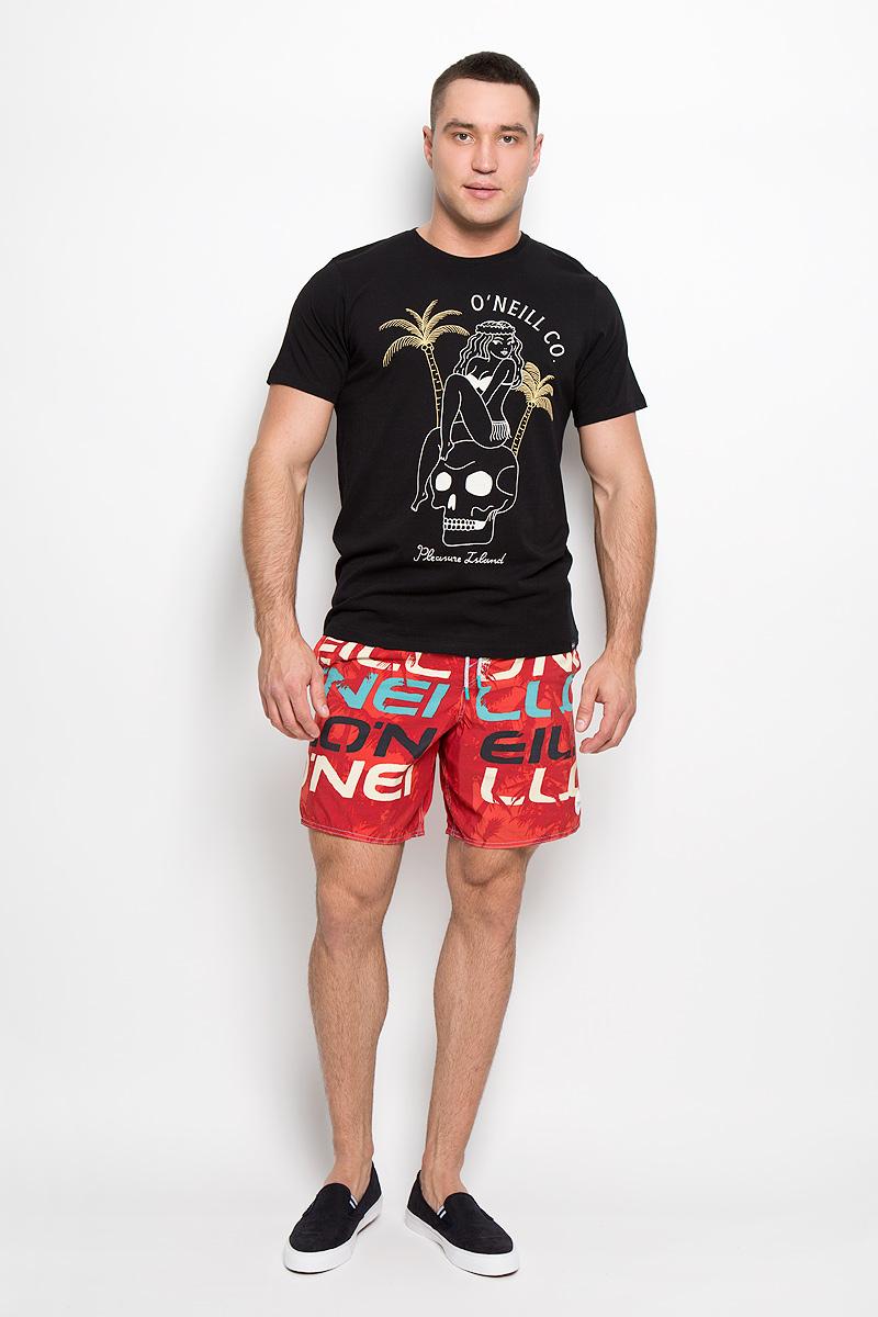 Футболка602341-1030Стильная мужская футболка ONeill, выполненная из высококачественного хлопка, обладает высокой воздухопроницаемостью и гигроскопичностью, позволяет коже дышать. Такая футболка великолепно подойдет как для повседневной носки, так и для спортивных занятий. Модель с короткими рукавами и круглым вырезом горловины - идеальный вариант для создания модного современного образа. Футболка оформлена принтом с изображением девушки, сидящей на черепе, и надписью Pleasure Island. Такая модель подарит вам комфорт в течение всего дня и послужит замечательным дополнением к вашему гардеробу.