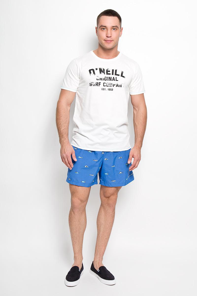 601710-1031Стильная мужская футболка ONeill, выполненная из высококачественного полиэстера с добавлением хлопка, обладает высокой воздухопроницаемостью и гигроскопичностью, позволяет коже дышать. Такая футболка великолепно подойдет как для повседневной носки, так и для спортивных занятий, она быстро сохнет и отводит влагу от тела, позволяя коже оставаться сухой. Модель с короткими рукавами и круглым вырезом горловины - идеальный вариант для создания модного современного образа. Футболка оформлена принтом с логотипом ONeill. Такая модель подарит вам комфорт в течение всего дня и послужит замечательным дополнением к вашему гардеробу.