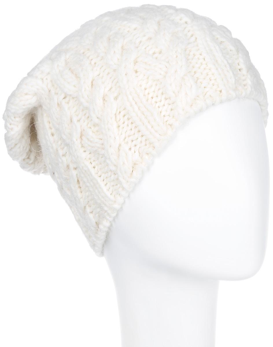 Шапка женская. 43054305Стильная шапка Noryalli - теплая модель для холодной погоды. Сочетание различных материалов обеспечивает сохранение тепла и удобную посадку. Шапка оформлена оригинальной крупной вязкой. Noryalli - комфортная защита от холода.