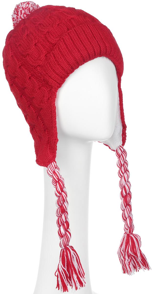Шапка-ушанка женская. 44744474-021Замечательная шапка-ушанка от Marhatter гарантирует тепло даже в самые морозные дни. Модель оформлена объемной вязкой, отворотом и аккуратным помпоном. Ушки дополнены кисточками. Теплая флисовая подкладка и пряжа в составе которой присутствует шерсть, сделает этот аксессуар незаменимым в холодную погоду. Идеальный вариант на каждый день.