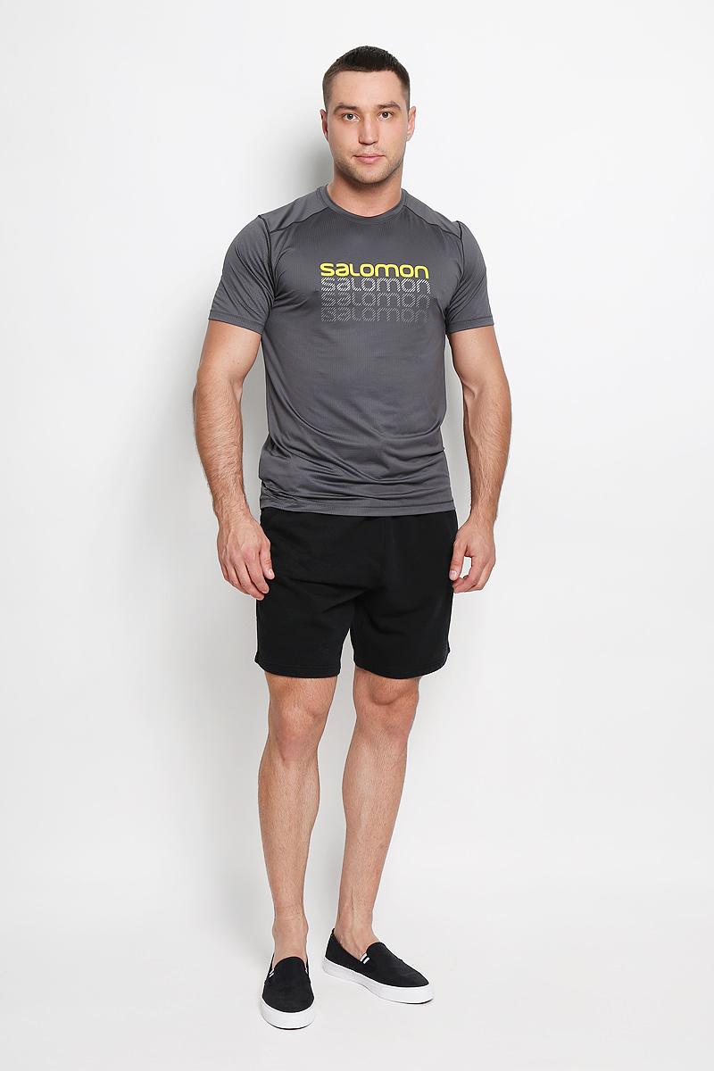 ФутболкаL37984900Мужская футболка для бега Salomon Cosmic Logo, выполненная из легкой дышащей ткани с антимикробным покрытием, защищает от ультрафиолета. и Оригинальный крой с плоскими швами исключает риск натирания. Такая футболка прекрасно подойдет для летнего отдыха или тренировок. Модель с короткими рукавами и круглым вырезом горловины оформлена логотипом бренда. Такая модель подарит вам комфорт в течение всей тренировки и послужит замечательным дополнением к вашему спортивному гардеробу.
