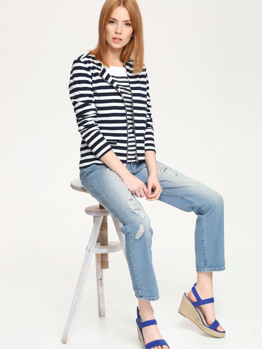 БрюкиSSP2254NIСтильные женские джинсы Top Secret, изготовленные из натурального хлопка с добавлением полиэстера, необычайно мягкие и приятные на ощупь. Джинсы-бойфренды с ширинкой на молнии на талии застегивается на пуговицу и имеют шлевки для ремня. Спереди модель оформлена двумя втачными карманами, сзади имеются два накладных кармана. Оформлены джинсы эффектом потертости и рваным эффектом.