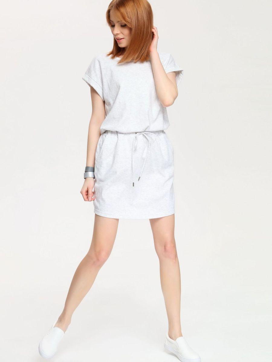 DSU0044GBСтильное платье Drywash выполнено из сочетания высококачественных материалов, а внутренняя сторона выполнена петельками. Модель с круглым вырезом горловины имеет короткие цельнокроеные рукава. В поясе платье дополнено эластичной резинкой с завязками-шнурками, а по бокам двумя втачными карманами.