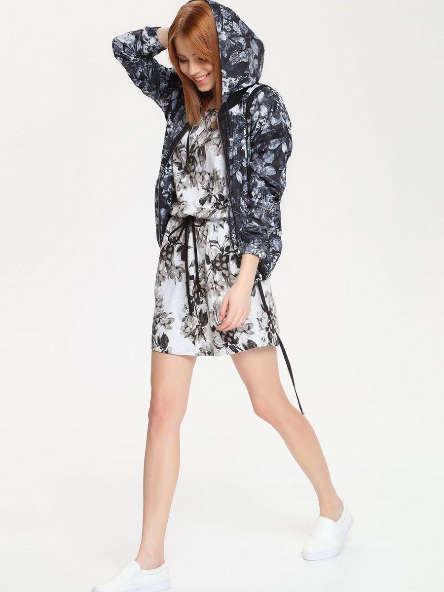 ПлатьеDSU0043GBСтильное платье Drywash выполнено из сочетания высококачественных материалов, а внутренняя сторона выполнена петельками. Модель с круглым вырезом горловины имеет короткие цельнокроеные рукава. В поясе платье дополнено эластичной резинкой с завязками-шнурками, а по бокам двумя втачными карманами. Изделие оформлено контрастным цветочным принтом.