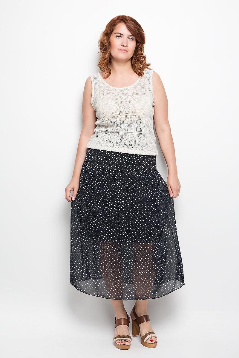 913мМодная юбка-макси Milana Style изготовленная из полупрозрачного струящегося полиэстера с добавлением вискозы и лайкры, не раздражает кожу и хорошо вентилируется. Модель на тонкой подкладке, ниже линии талии дополнена небольшими складками. По всей длине юбка оформлена принтом в мелкий горох. Стильная юбка модной длины позволит вам создать неповторимый женственный образ. В таком наряде вы, безусловно, привлечете восхищенные взгляды окружающих.
