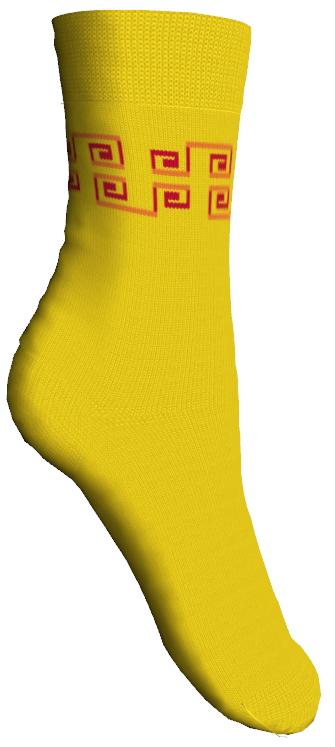 Носки детские. 52007_орнамент52007Мягкие детские носки Master Socks изготовлены из эластичного хлопка и полиамида. Ткань очень приятная на ощупь, хорошо тянется, не деформируясь. Эластичная резинка мягко облегает ножку ребенка, обеспечивая удобство и комфорт. Модель оформлена орнаментом контрастного цвета. Такие носочки станут отличным дополнением к детскому гардеробу! Уважаемые клиенты! Размер, доступный для заказа, является длиной стопы.