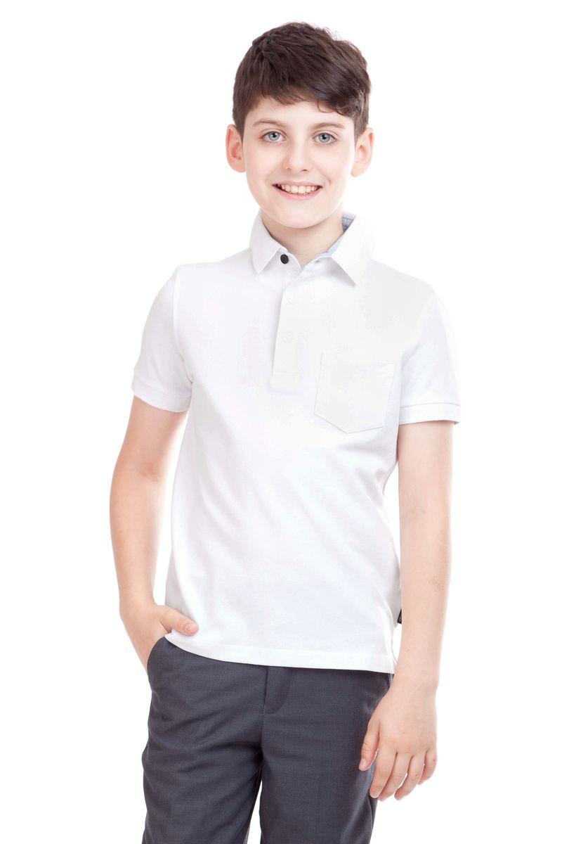 21501BSC1402Стильная футболка-поло для мальчика Gulliver идеально подойдет вашему маленькому моднику. Изготовленная из эластичного хлопка высокого качества, она необычайно нежная и приятная на ощупь, не сковывает движения малыша и позволяет коже дышать, не раздражает даже самую чувствительную кожу ребенка, обеспечивая наибольший комфорт. Футболка-поло с короткими рукавами и отложным воротником имеет классическую строгую расцветку, благодаря чему ее можно сочетать с любыми нарядами. Модель застегивается на три пуговицы на груди, рукава дополнены узкими эластичными манжетами. На груди расположен небольшой открытый кармашек. Оригинальный современный дизайн и высококачественное полотно делают эту футболку модным и стильным предметом детского гардероба. В ней ваш малыш будет чувствовать себя уютно и комфортно и всегда будет в центре внимания!