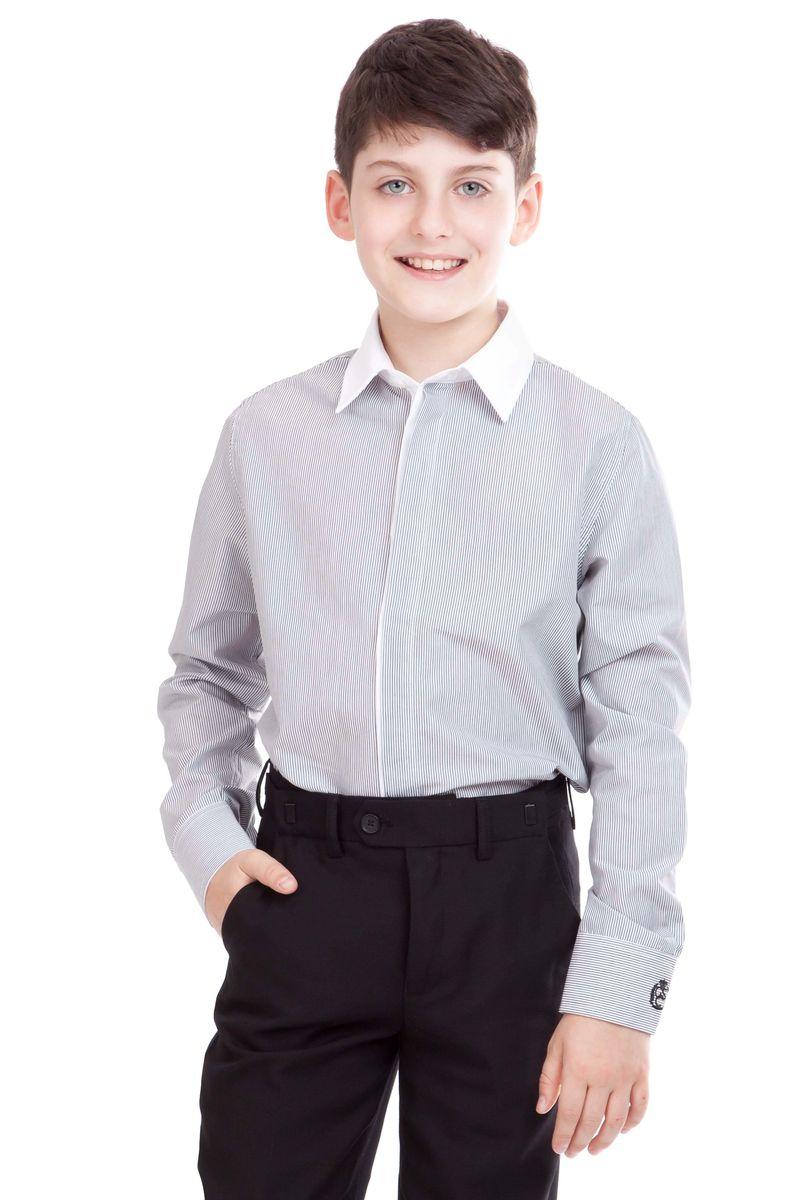 21501BSC2308Если вы хотите купить классные школьные рубашки для мальчиков, выбор модели из коллекции Gulliver абсолютно оправдан. В красивой полоске рубашка для школы выглядит стильно, современно, достойно дополняя деловой образ ученика. Модный крой и отличный состав ткани обеспечивает комфорт и прекрасную посадку изделия на фигуре. Рубашку украшает контрастная отделка стойки.