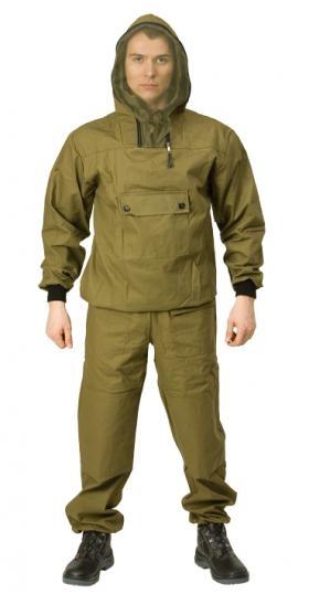 Костюм противоэнцефалитныйКостюм Противоэнцефалитный (5571)Костюм Противоэнцефалитный отлично подойдет для геологов, охотников, рыболовов, грибников, дачников. Костюм состоит из куртки и брюк. Куртка с капюшоном и противомоскитной сеткой, убираемой в потайной нагрудный карман. На рукавах трикотажные манжеты. 100% х/б, ткань палаточная.