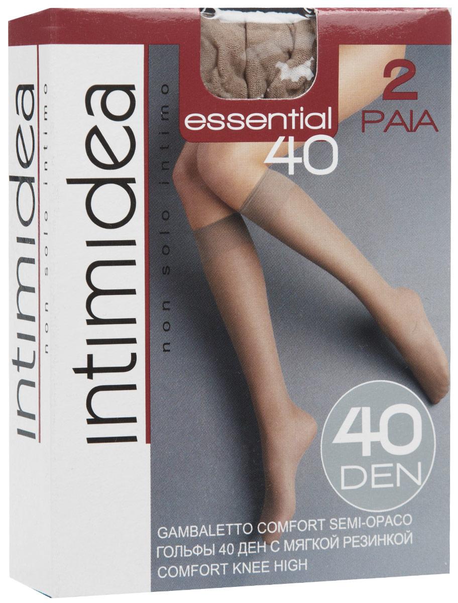 Гольфы женские Essential 40, 2 парыEssential 40 NeroЭластичные женские гольфы Intimidea Essential, выполненные из полиамида с добавлением эластана, идеально подойдут для повседневной носки. Модель дополнена мягкой удобной резинкой и укрепленным мыском. В комплект входят 2 пары. Плотность: 40 Den.