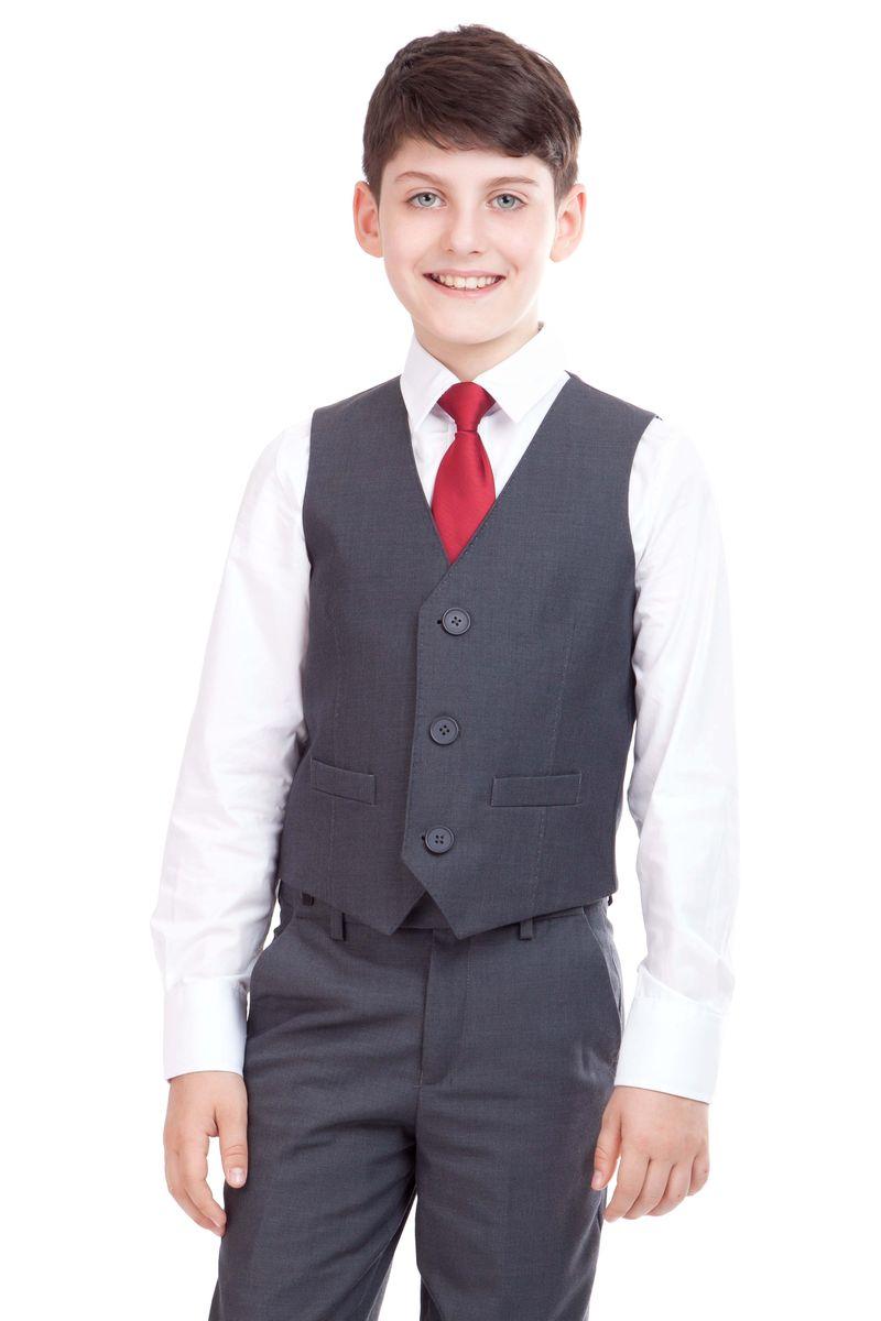 21501BSC4702Классический жилет для мальчика Gulliver идеально подойдет для школы. Изготовленный из высококачественной костюмной ткани, он необычайно мягкий и приятный на ощупь, не сковывает движения малыша и позволяет коже дышать, не раздражает даже самую нежную и чувствительную кожу ребенка, обеспечивая ему наибольший комфорт. На подкладке используется гладкая подкладочная ткань. Жилет классического кроя с V-образным вырезом горловины спереди застегивается на пуговицы и дополнен двумя небольшими прорезными кармашками. Для удобства на спинке предусмотрен хлястик для регулировки изделия по ширине. Простой по крою жилет хорошо смотрится на любой фигуре и гармонично сочетается с галстуками и бабочками, пиджаками, брюками и джинсами. Являясь важным атрибутом школьной моды, стильный жилет подчеркивает деловой имидж ученика, придавая ему уверенность.