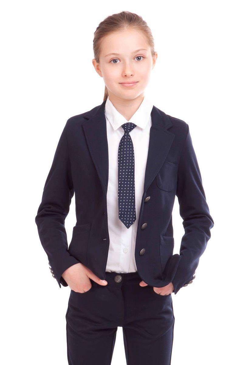 21502GSC1902Школьные жакеты из джерси - прекрасная альтернатива классическому пиджаку. Жакет отлично держит форму, при этом обладает удобством и комфортом трикотажного изделия. Жакет - идеальное дополнение к любым юбке, шортам, брюкам. В отделке лаконичный шеврон на нагрудном кармане, напоминающий эмблему учебного заведения.