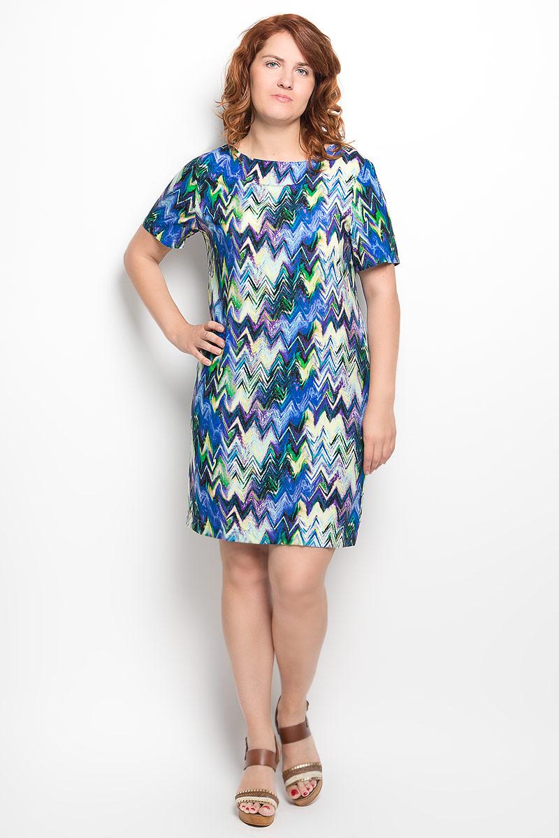 080416Платье Milana Style идеально подойдет для вас и станет стильным дополнением к вашему гардеробу. Выполненное из вискозы с добавлением полиамида и эластана, оно очень приятное на ощупь, не сковывает движений и хорошо вентилируется. Модель без застежки с круглым вырезом горловины и с короткими рукавами оформлена оригинальным принтом. Такое платье поможет создать яркий и привлекательный образ, в нем вам будет удобно и комфортно.