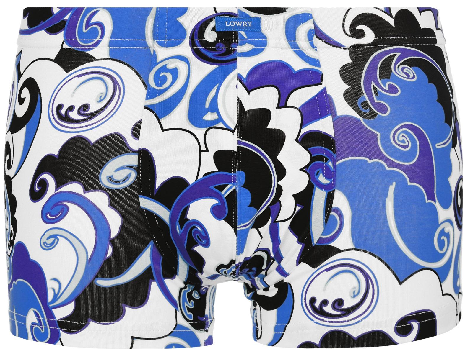 Трусы-боксеры мужские. MSHL-325MSHL-325Классические трусы-боксеры Lowry выполнены из хлопка с добавление лайкры. Удобная посадка и широкая резинка на талии обеспечат наибольший комфорт. Резинка оформлена нашивкой с названием бренда. Трусы оформлены ярким оригинальным принтом. Модель создана для тех, кто предпочитает комфорт, практичность и современный дизайн.