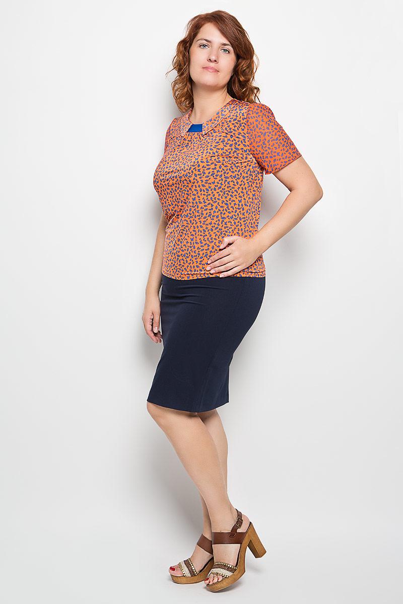 Блузка898мСтильная женская блузка Milana Style, выполненная из полиэстера с добавлением вискозы и лайкры, подчеркнет ваш уникальный стиль и поможет создать женственный образ. Модель c имитацией отложного воротника и короткими рукавами. Рукава выполнены из полупрозрачного легкого материала. Блуза оформлена оригинальным орнаментом и спереди дополнена складками. Такая блузка будет дарить вам комфорт в течение всего дня и послужит замечательным дополнением к вашему гардеробу.