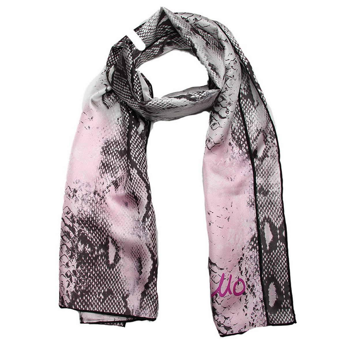 Шарф. 4900471-24900471-2Женский аксессуар будет практичным и женственным дополнением к Вашему образу. Шелковый шарф с анималистическим принтом, выполнен из нежного шелка, имеет небольшие размеры.