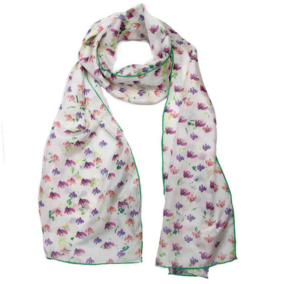 Шарф4900571-2Стильный шарф Codello согреет вас в прохладную погоду и станет достойным завершением вашего образа. Шарф изготовлен из натурального шелка и оформлен оригинальным принтом в мелкий цветочек. Такой шарф красиво драпируется, а так же превосходно дополнит любой ваш наряд и подчеркнет изысканный вкус.
