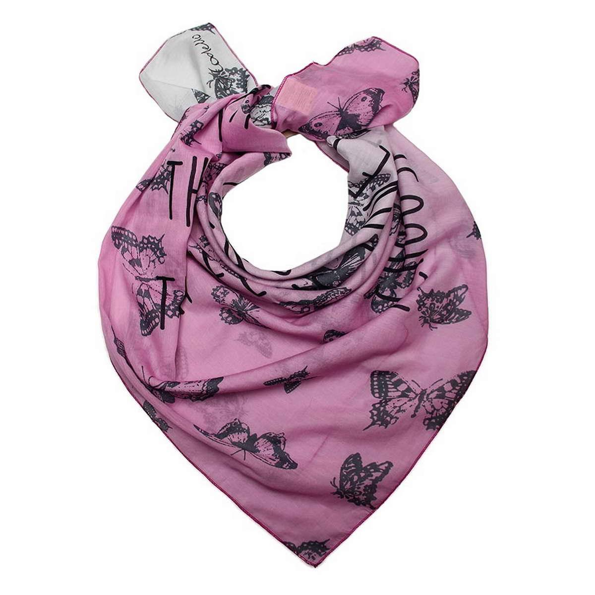 Платок6700871-3Стильный женский платок Codello, изготовленный из хлопка с добавлением шелка, выполнен в оригинальной цветовой гамме и оформлен оригинальным принтом в виде бабочек. Классическая квадратная форма позволяет носить платок на шее, украшать им прическу или декорировать сумочку. Такой платок превосходно дополнит любой наряд и подчеркнет ваш неповторимый вкус и элегантность.