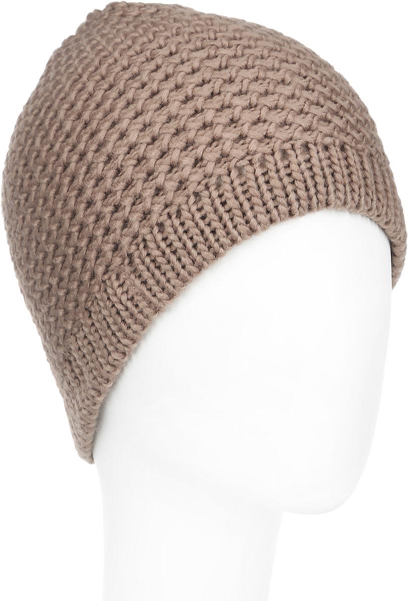 Шапка женская. 98003039800303-01Вязаная женская шапка Venera отлично дополнит ваш образ в холодную погоду. Шапка выполнена крупной вязкой из мягкой пряжи, которая не доставит дискомфорта при носке. Сочетание шерсти и акрила максимально сохраняет тепло и обеспечивает удобную посадку. Теплая шапка станет отличным дополнением к вашему осеннему или зимнему гардеробу, в ней вам будет уютно и тепло!